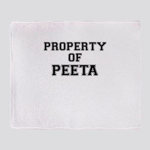Property of PEETA Throw Blanket