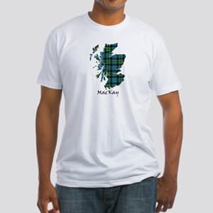 Map - MacKay Fitted T-Shirt