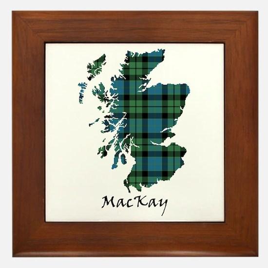 Map - MacKay Framed Tile