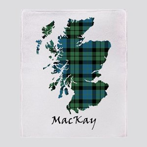 Map - MacKay Throw Blanket