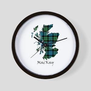 Map - MacKay Wall Clock