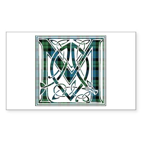 Monogram - MacKay Sticker (Rectangle)
