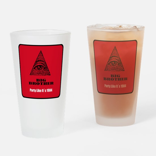Cool Surveillance Drinking Glass