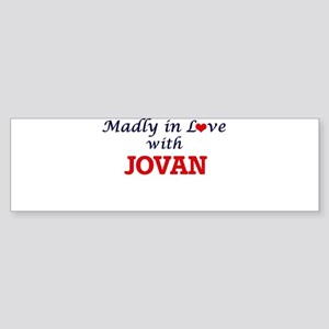 Madly in love with Jovan Bumper Sticker