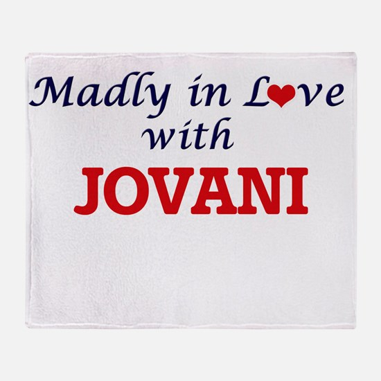 Madly in love with Jovani Throw Blanket