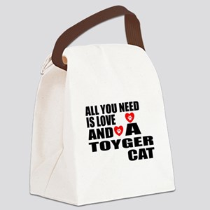 All You Need Is Love Toyger Cat D Canvas Lunch Bag
