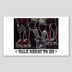 Talk Derby Neon Rectangle Sticker