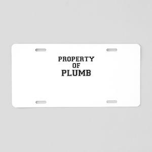 Property of PLUMB Aluminum License Plate