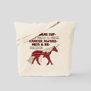Unicorns Support Head & Neck Cancer Aware Tote Bag