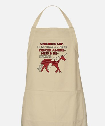 Unicorns Support Head & Neck Cancer Awarenes Apron