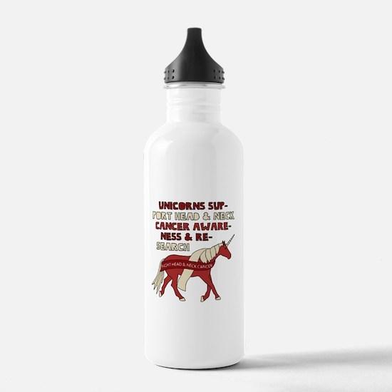 Unicorns Support Head Water Bottle