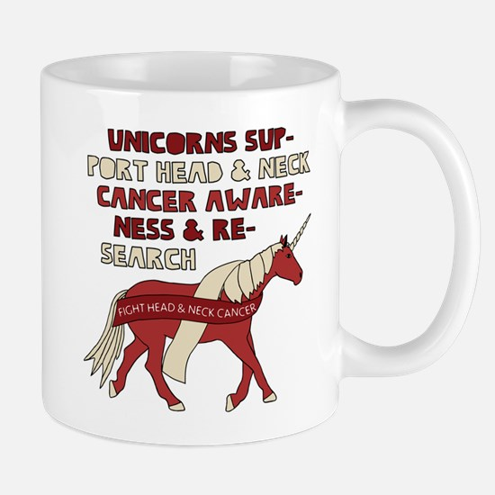 Unicorns Support Head & Neck Cancer Awareness Mugs