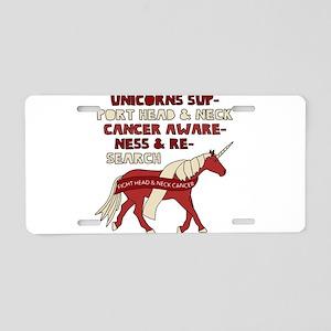 Unicorns Support Head & Nec Aluminum License Plate
