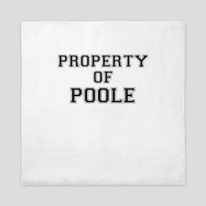 Property of POOLE Queen Duvet