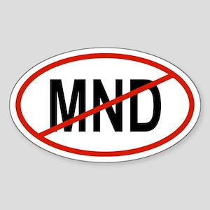 MND Oval Sticker