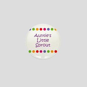 Auntie's Little Sprout Mini Button
