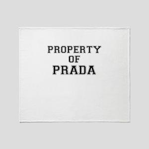 Property of PRADA Throw Blanket