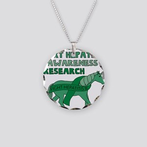 Unicorns Support Hepatitis B Necklace Circle Charm