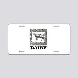 boxed dairy Aluminum License Plate
