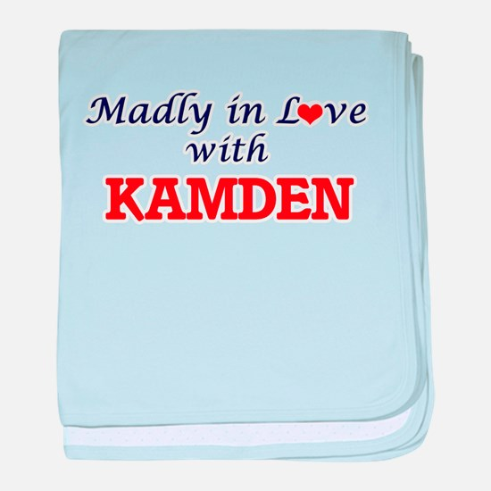 Madly in love with Kamden baby blanket