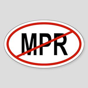 MPR Oval Sticker
