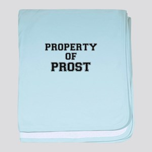Property of PROST baby blanket