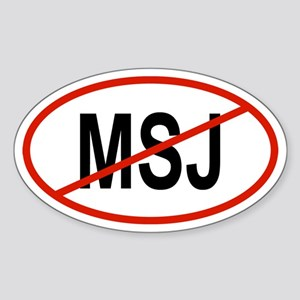 MSJ Oval Sticker