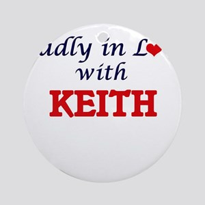 Madly in love with Keith Round Ornament