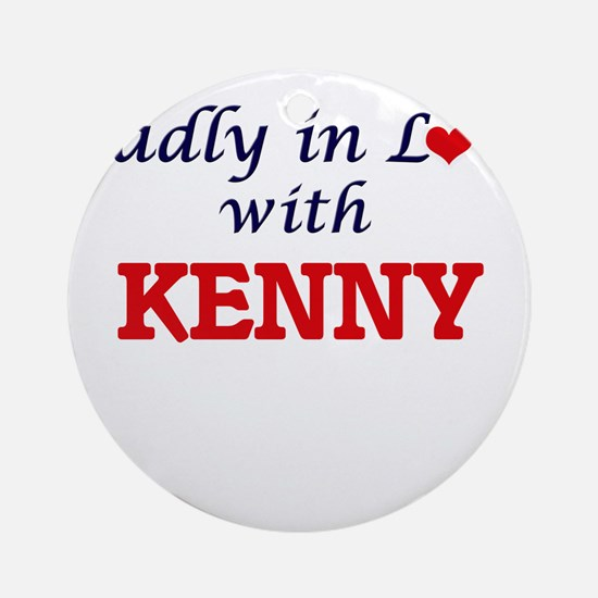 Madly in love with Kenny Round Ornament