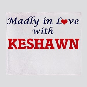Madly in love with Keshawn Throw Blanket