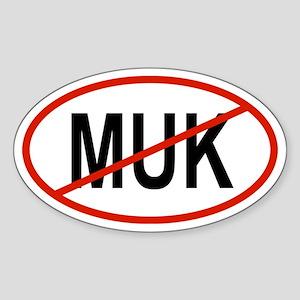 MUK Oval Sticker