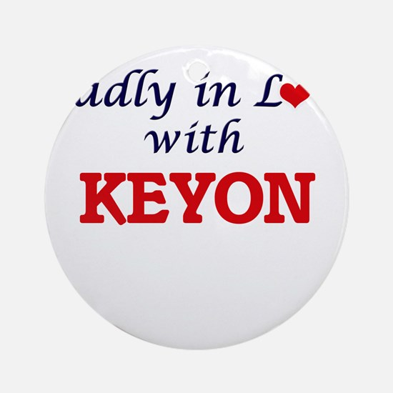 Madly in love with Keyon Round Ornament
