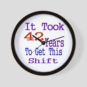 It Took 42 Years Birthday Designs Wall Clock