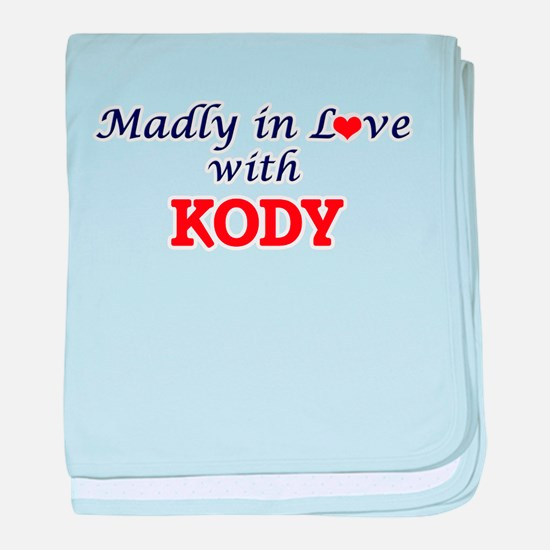 Madly in love with Kody baby blanket