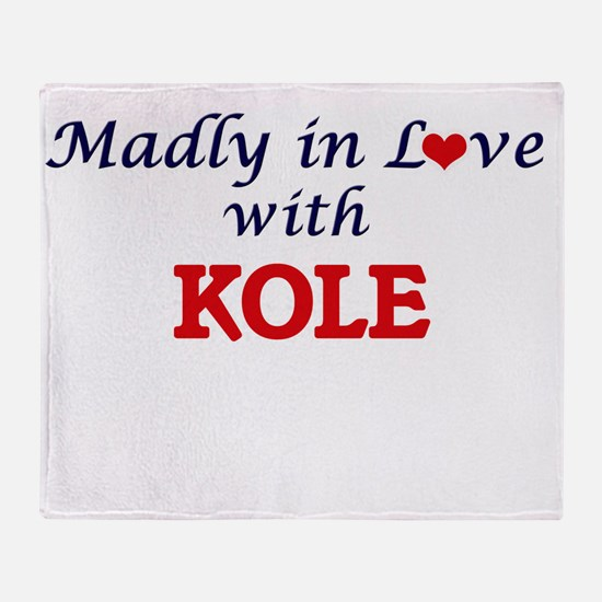 Madly in love with Kole Throw Blanket