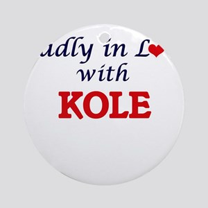 Madly in love with Kole Round Ornament