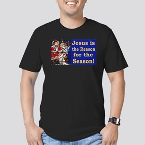 Jesus is the reason fo Men's Fitted T-Shirt (dark)