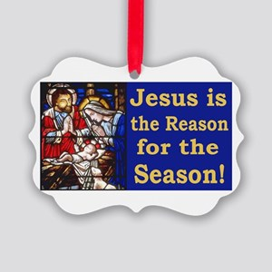 Jesus is the reason for the seaso Picture Ornament