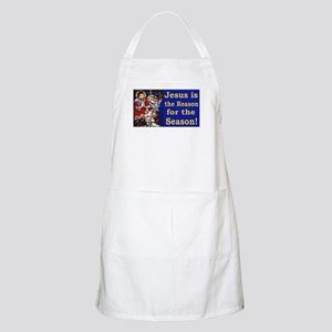 Jesus is the reason for the season stained g Apron