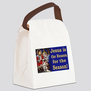 Jesus is the reason for the seaso Canvas Lunch Bag