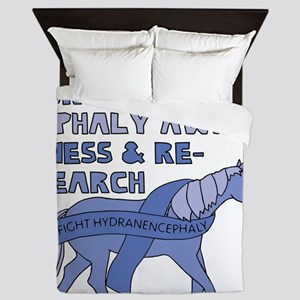 Unicorns Support Hydranencephaly Aware Queen Duvet