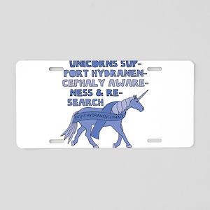 Unicorns Support Hydranence Aluminum License Plate