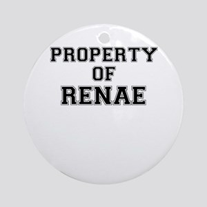 Property of RENAE Round Ornament
