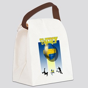 Swedish Football Canvas Lunch Bag