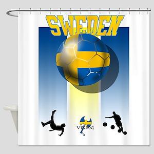Swedish Football Shower Curtain