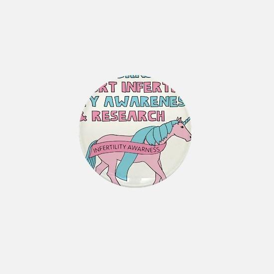 Unicorns Support Infertility Awareness Mini Button