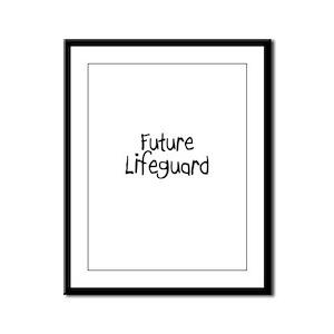 Future Lifeguard Framed Panel Print