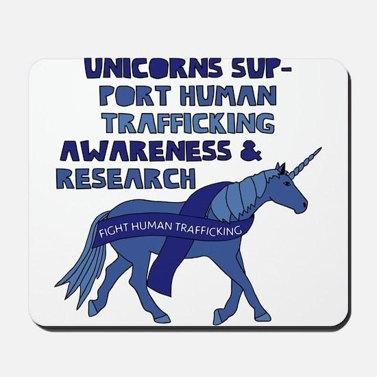 Unicorns Support Human Trafficking Aware Mousepad