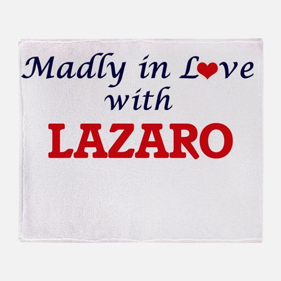 Madly in love with Lazaro Throw Blanket