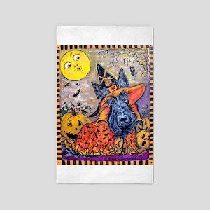Scottie Halloween Witch Area Rug